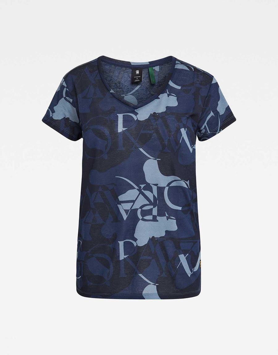 G-Star RAW All Over Camo Print T-Shirt