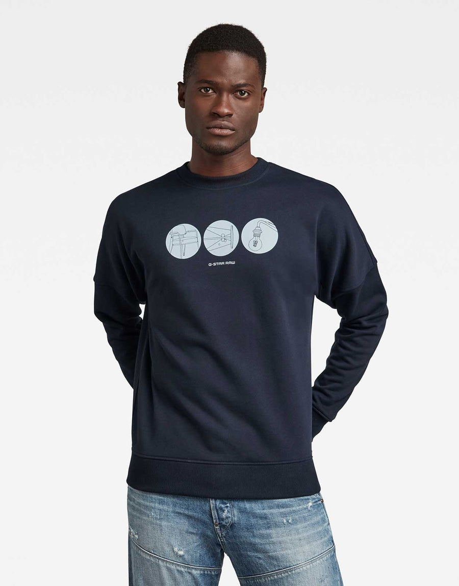 G-Star RAW Drop Shoulder Sweatshirt