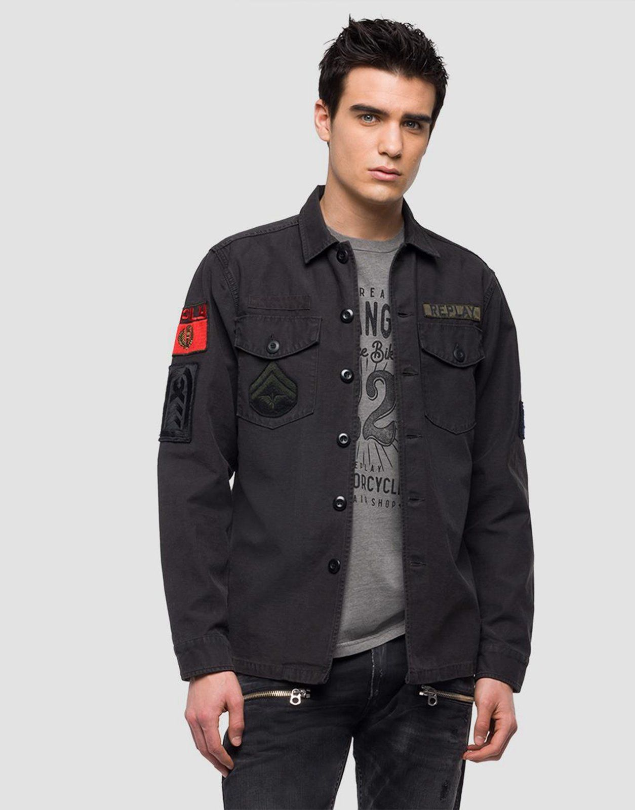 04cf3679e2e Replay Military Jacket