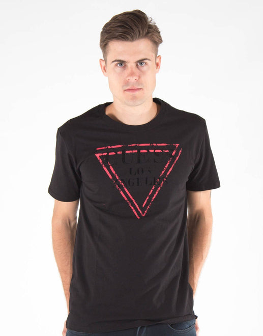 Guess Basic Abstract Logo T-Shirt