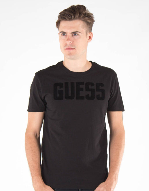 Guess Bsc Flock Logo T-Shirt