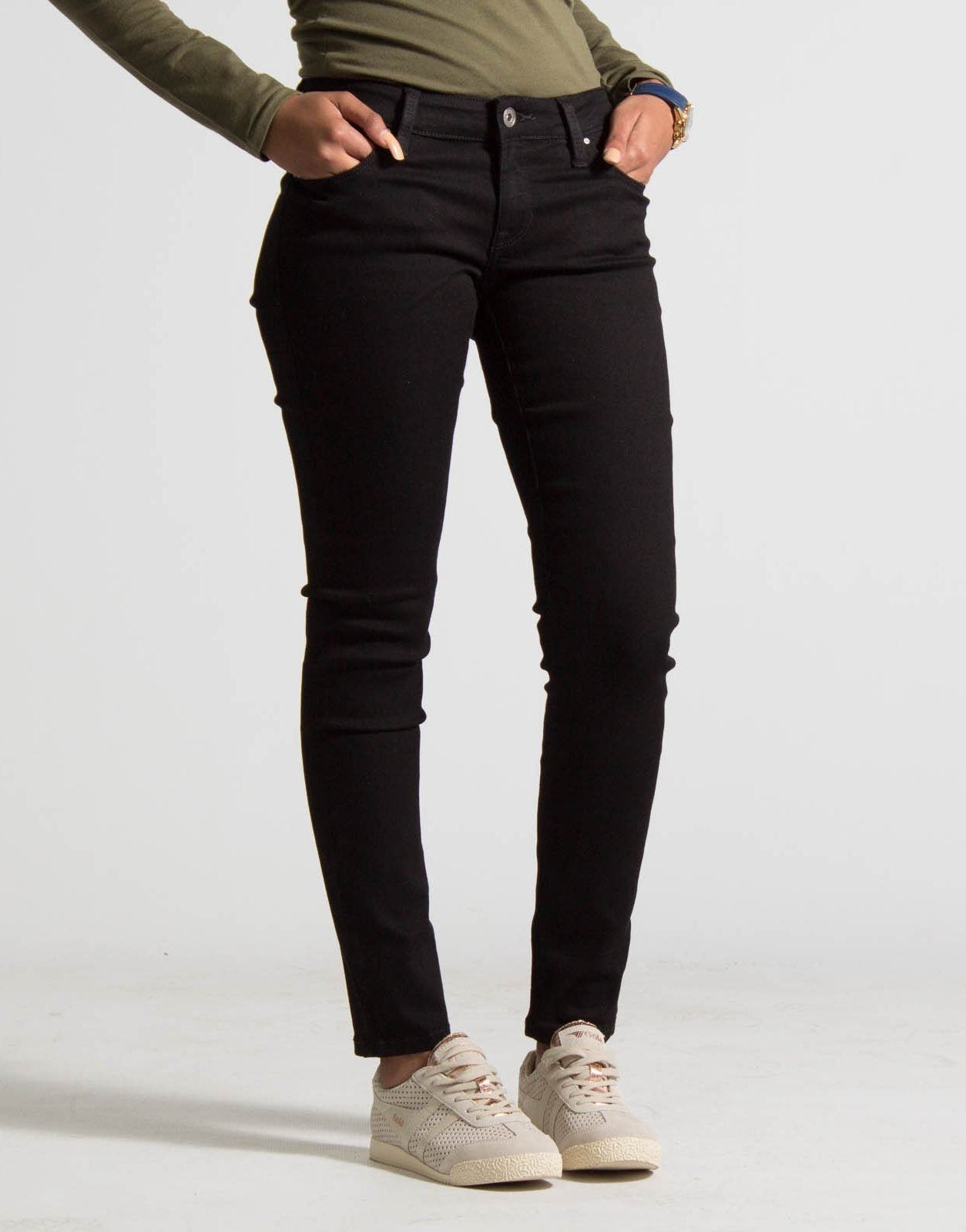 Guess Power Skinny Jeans, 27RG / Black