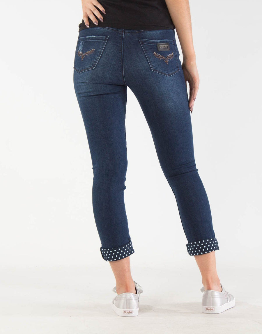 Sissy Boy Turn Up Axle Capri Jeans
