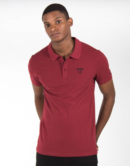 Guess Core Embroidery Red Polo Shirt - Subwear