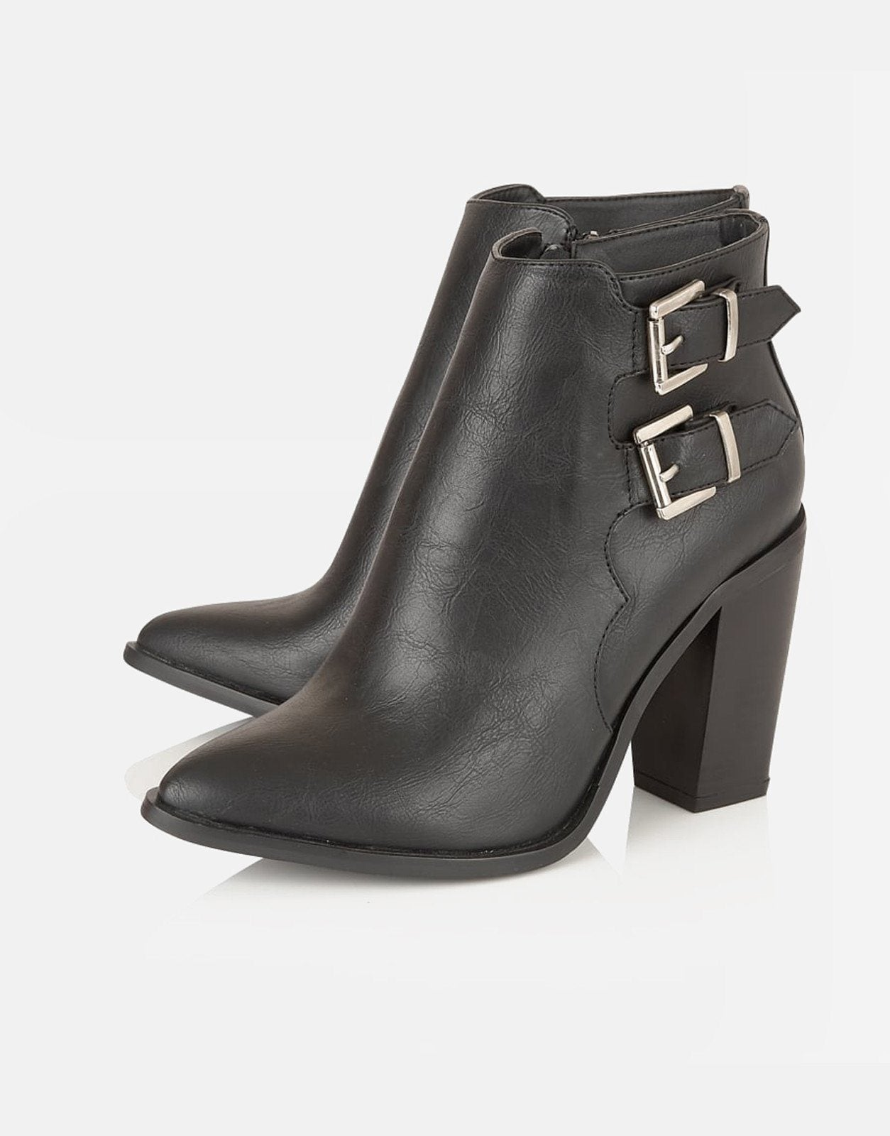Dolcis Dolcis Santana Buckle Ankle Black Boots  Subwear