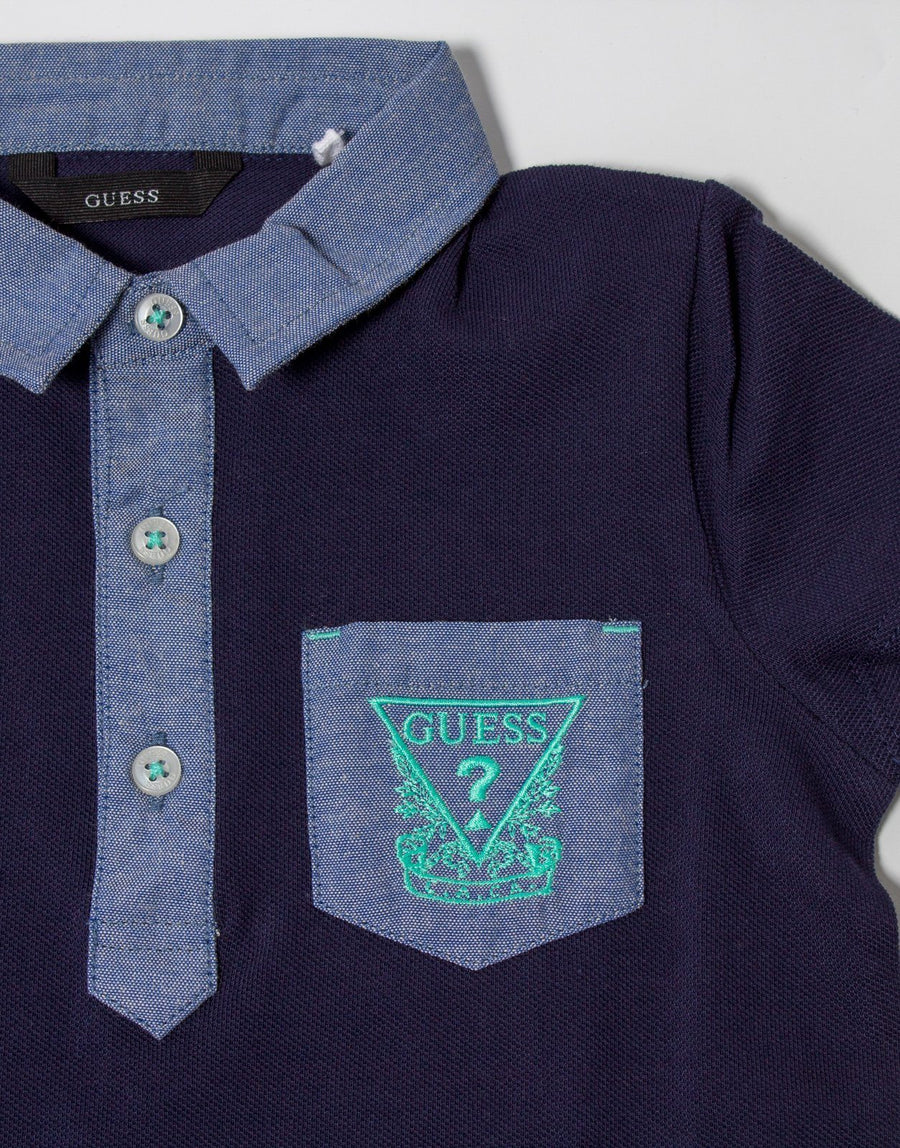 Guess Boys Chambray Contrast Golfer - Subwear
