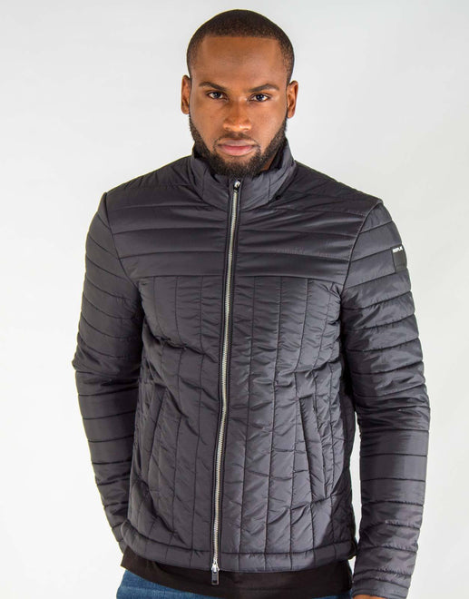 Replay Black Puffer Jacket