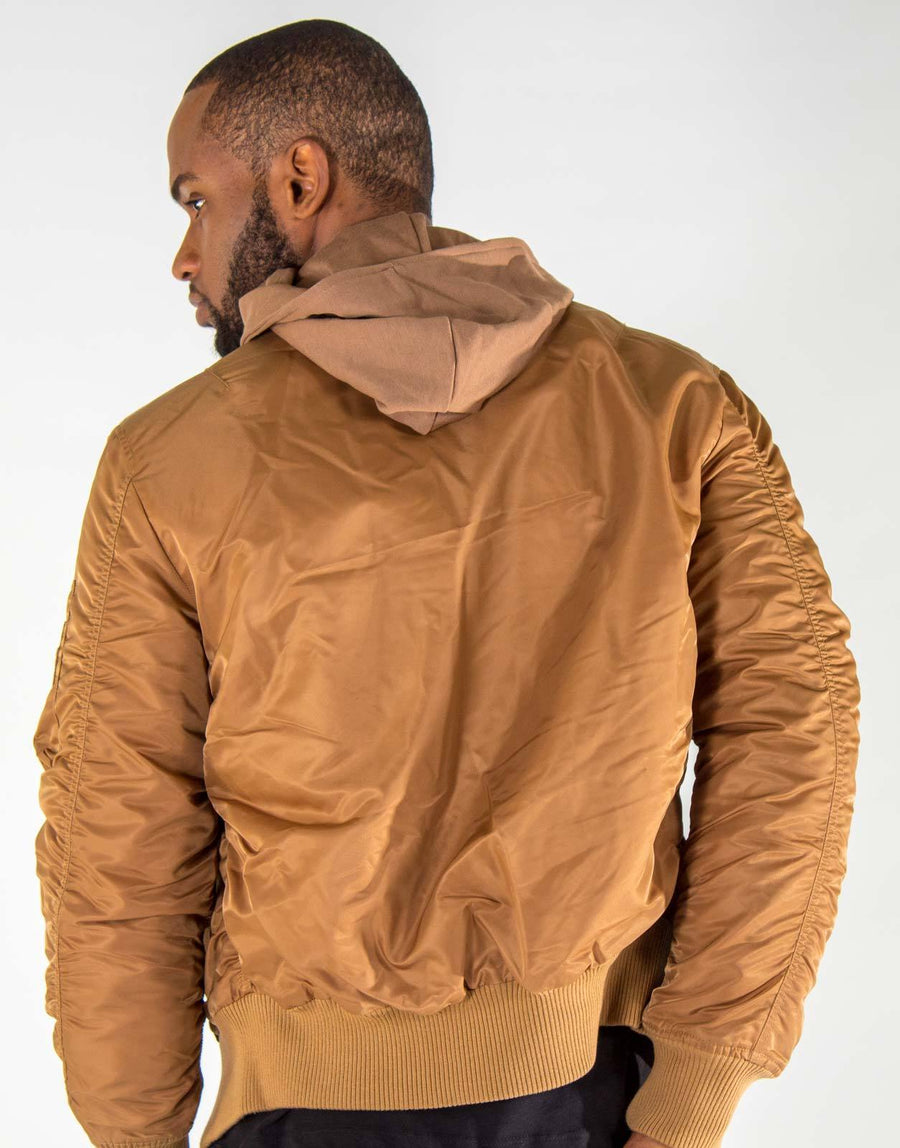 Vialli Tan Bomber Jacket