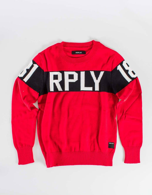 Replay Red Boys Jersey