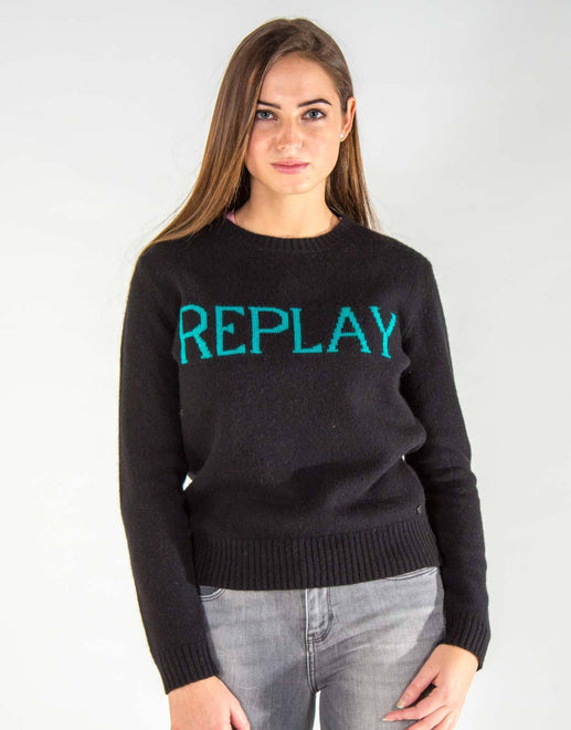 Replay Black Knit Jersey