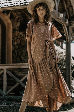 Bird & Kite Return To Eden Dress // Petals Cinnamon