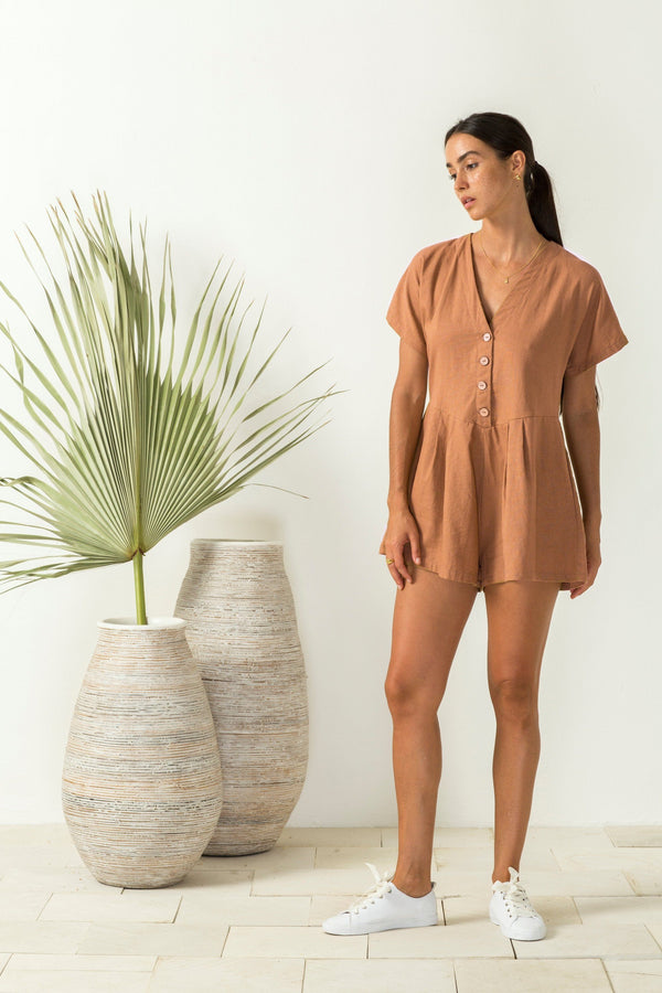 Bird & Kite Emily Romper // Cinnamon