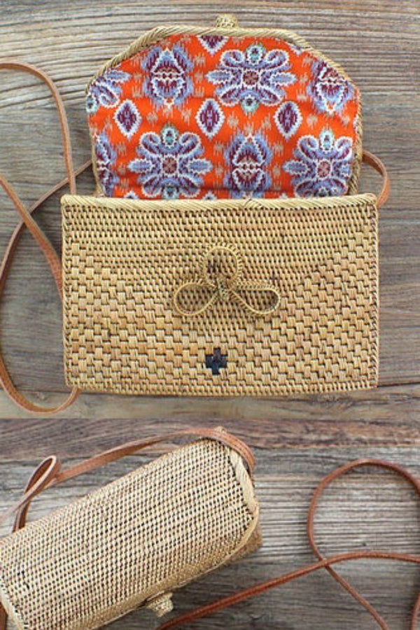 Scandic Gypsy Envelope Ata Rattan Bag - Siren & Muse