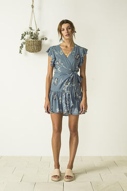 Bird & Kite Angie Wrap Dress // Wild Magnolia Aegean Blue