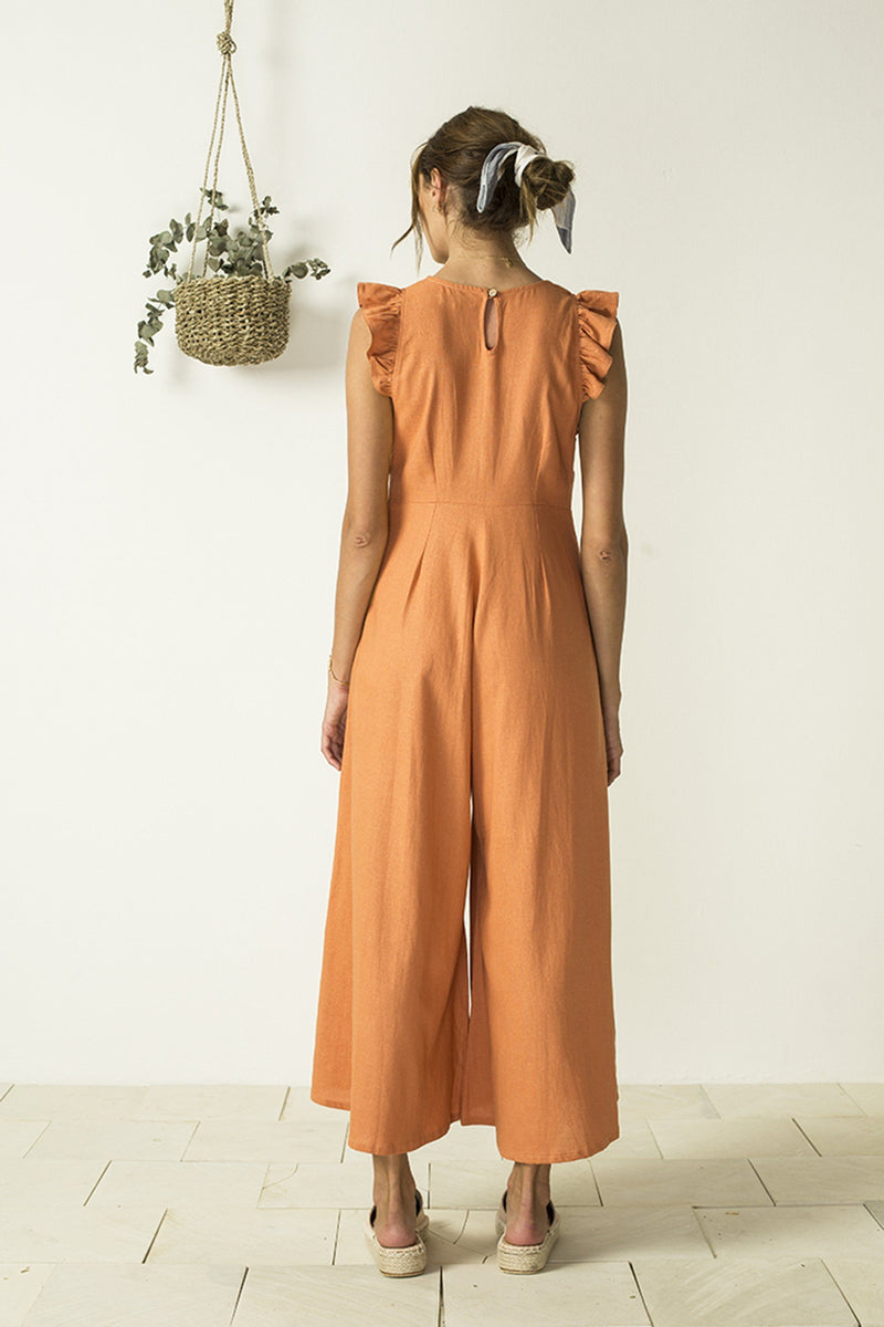 Bird & Kite Louna Jumpsuit // Tangerine