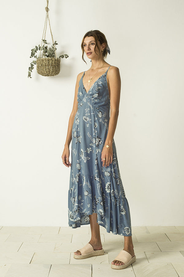 Bird & Kite Gabriella Dress // Wild Magnolia Aegean Blue