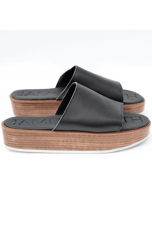 James Smith Stevie Wooden Stacked Slide // Black - Siren & Muse
