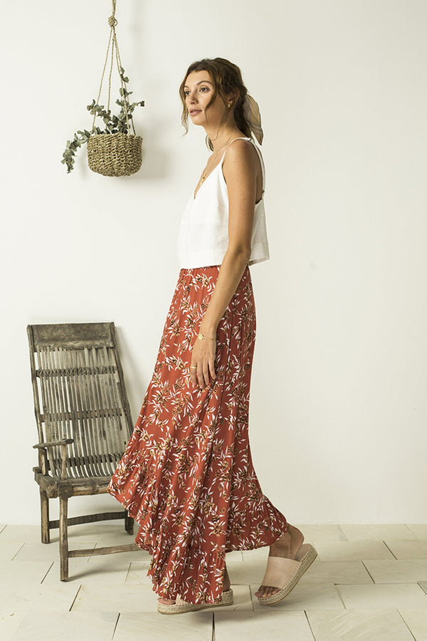 Bird & Kite Seabourne Skirt // Cottage Garden Pomegranite
