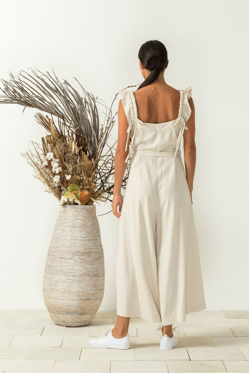 Bird & Kite Janie Jumpsuit // Natural Oatmeal