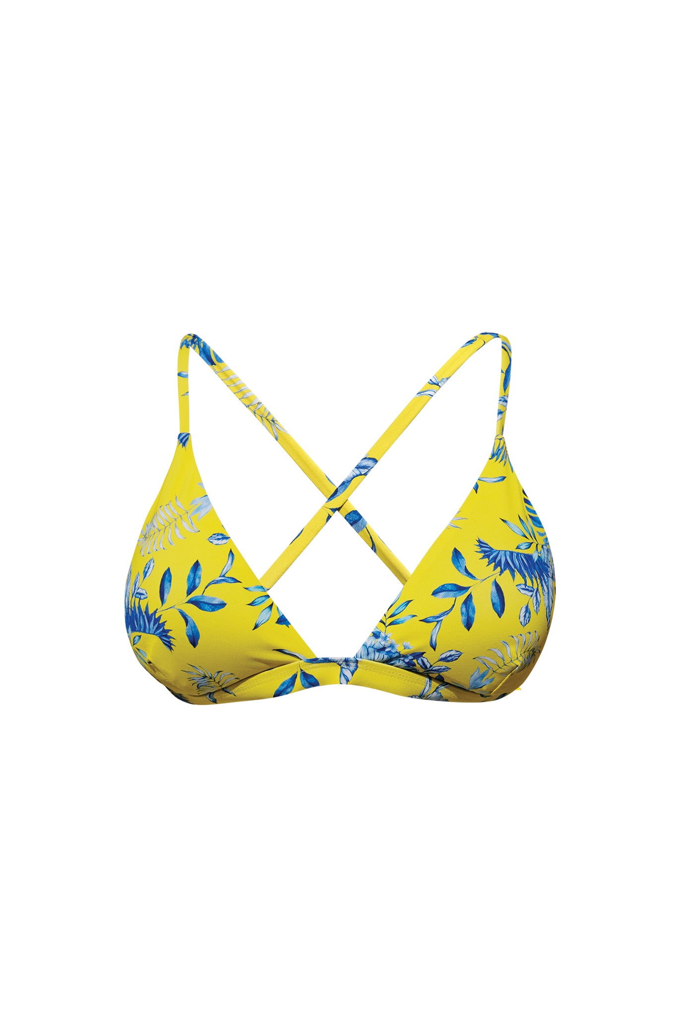 dd645fd334 TENERIFE - swimwear triangle bikini top - Porcelaine Tropic – Mint Escape