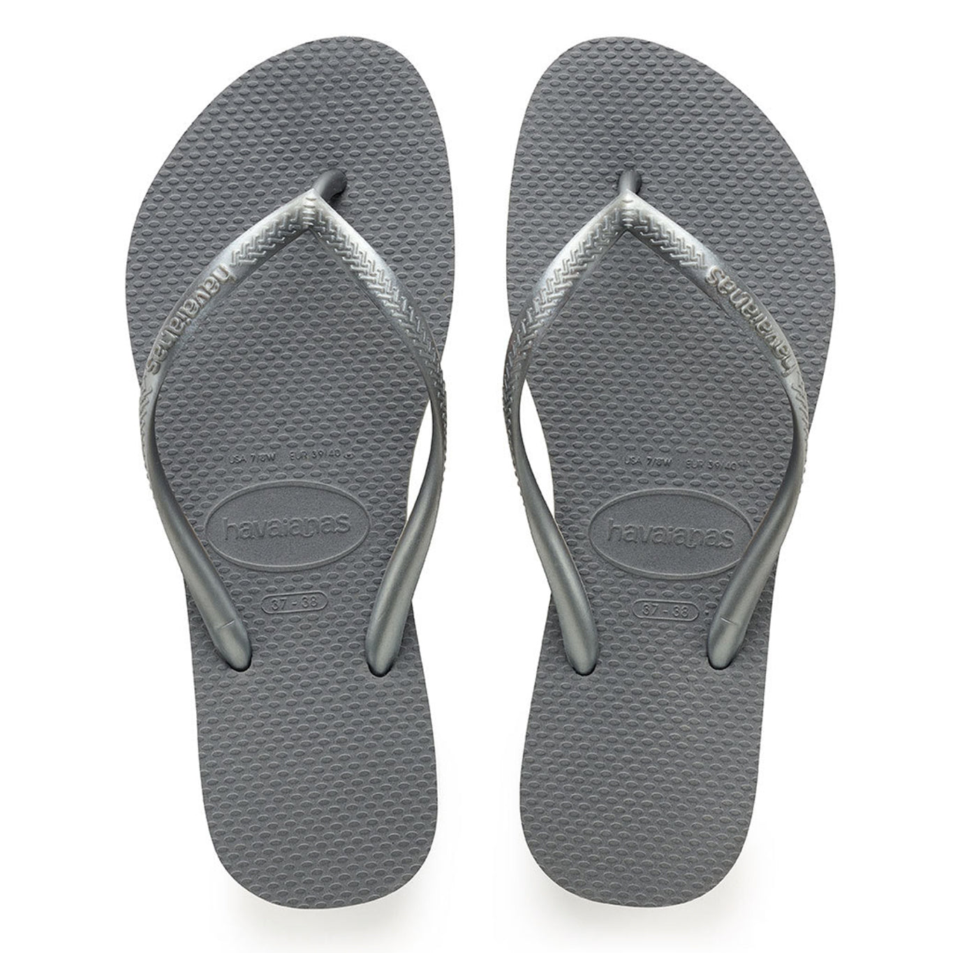 Havaianas flip flop - Ladies Slim - steel grey