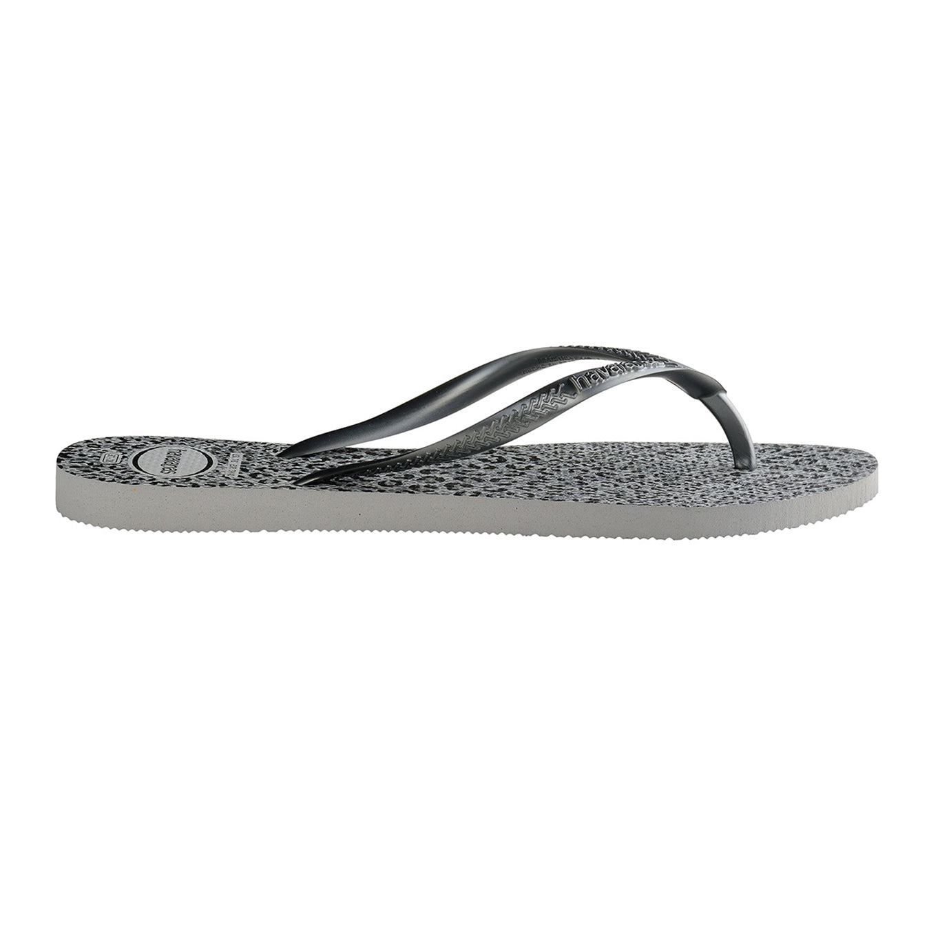Havaianas flip flop - Ladies Slim Animals - cinza hielo/grafito metallic