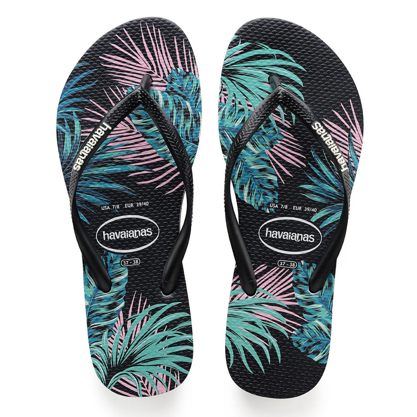 3b2564a04 Havaianas flip flop - Ladies Slim Floral - Black black daybreak – Mint  Escape