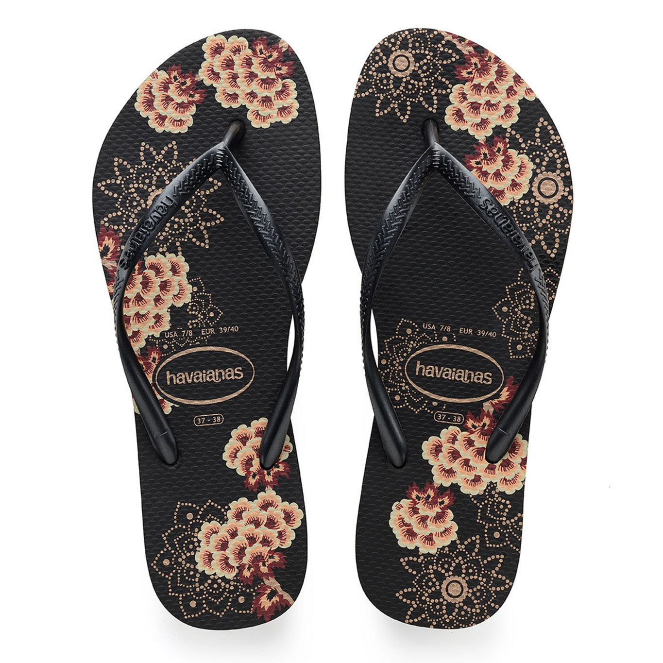 Havaianas flip flop - Ladies Slim organic - black/dark grey metallic