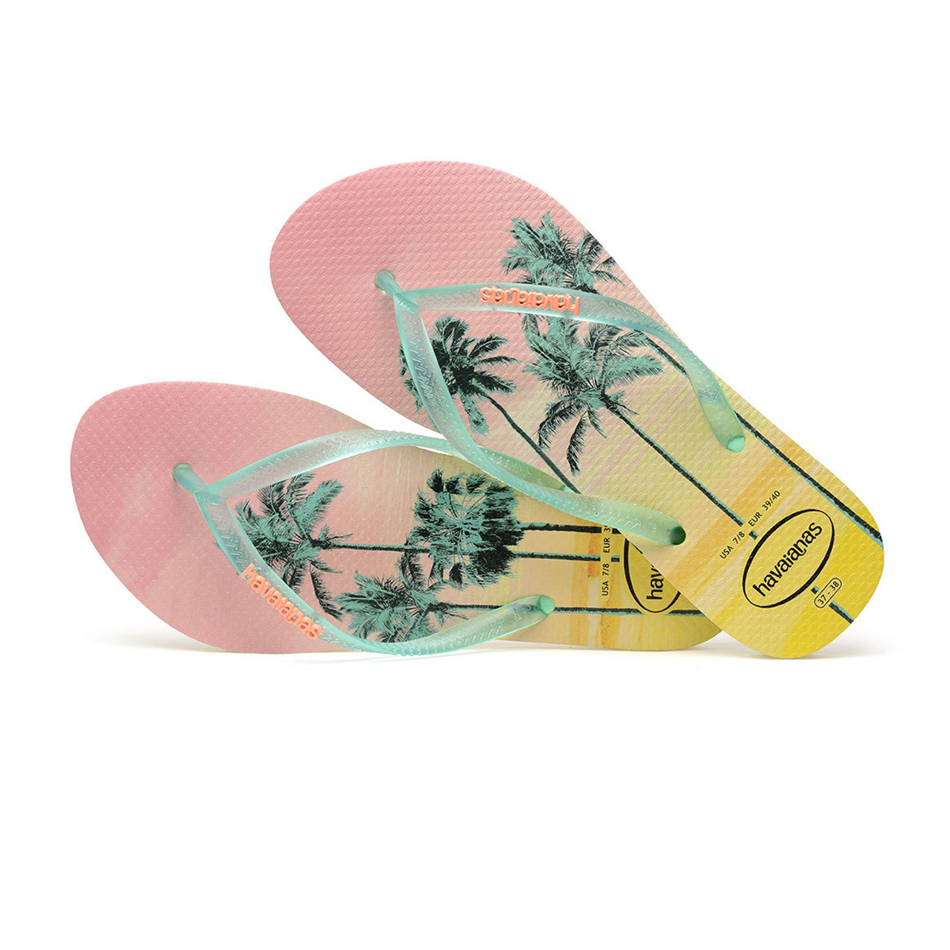 Havaianas flip flop - Ladies slim paisage - pollen yellow