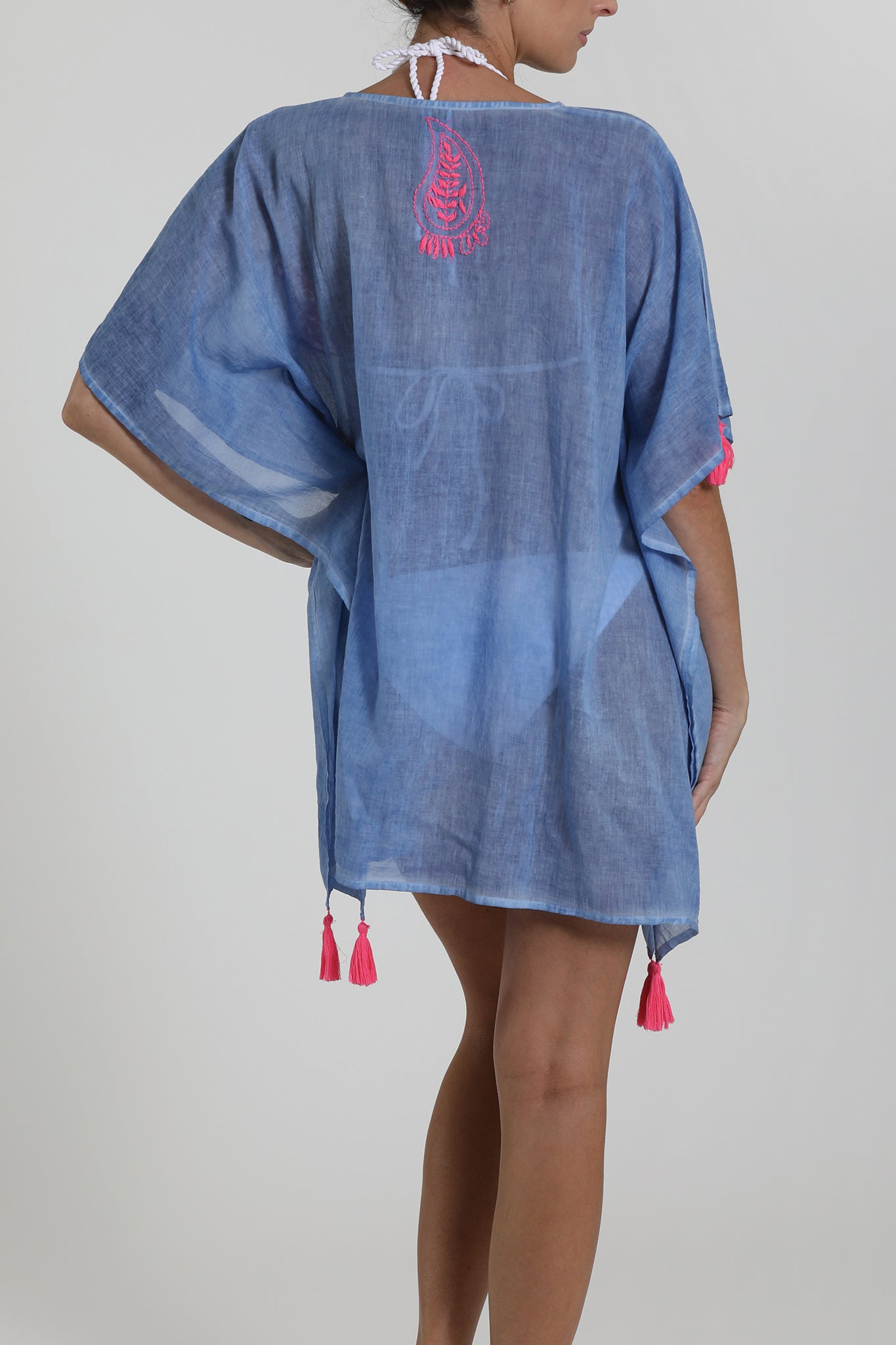 BARBADOS - Kaftan Cover Up - Light Indigo