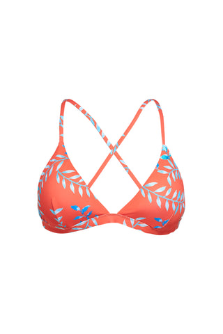 SANTORINI - Bandeau swimwear  Bikini Top - Tangerine Orange