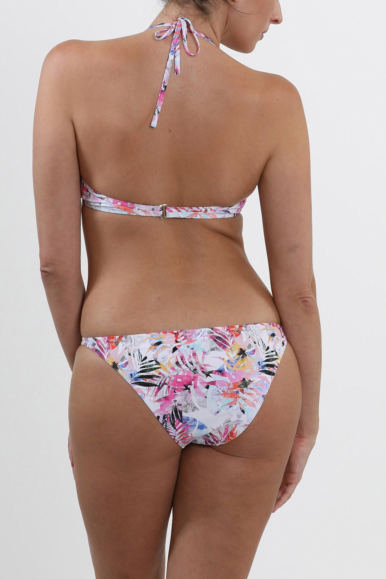 Set 13 Rimini Push Up Top- Vivid Palms and Cape Town bottom - Vivid Palms swimwear bikini set
