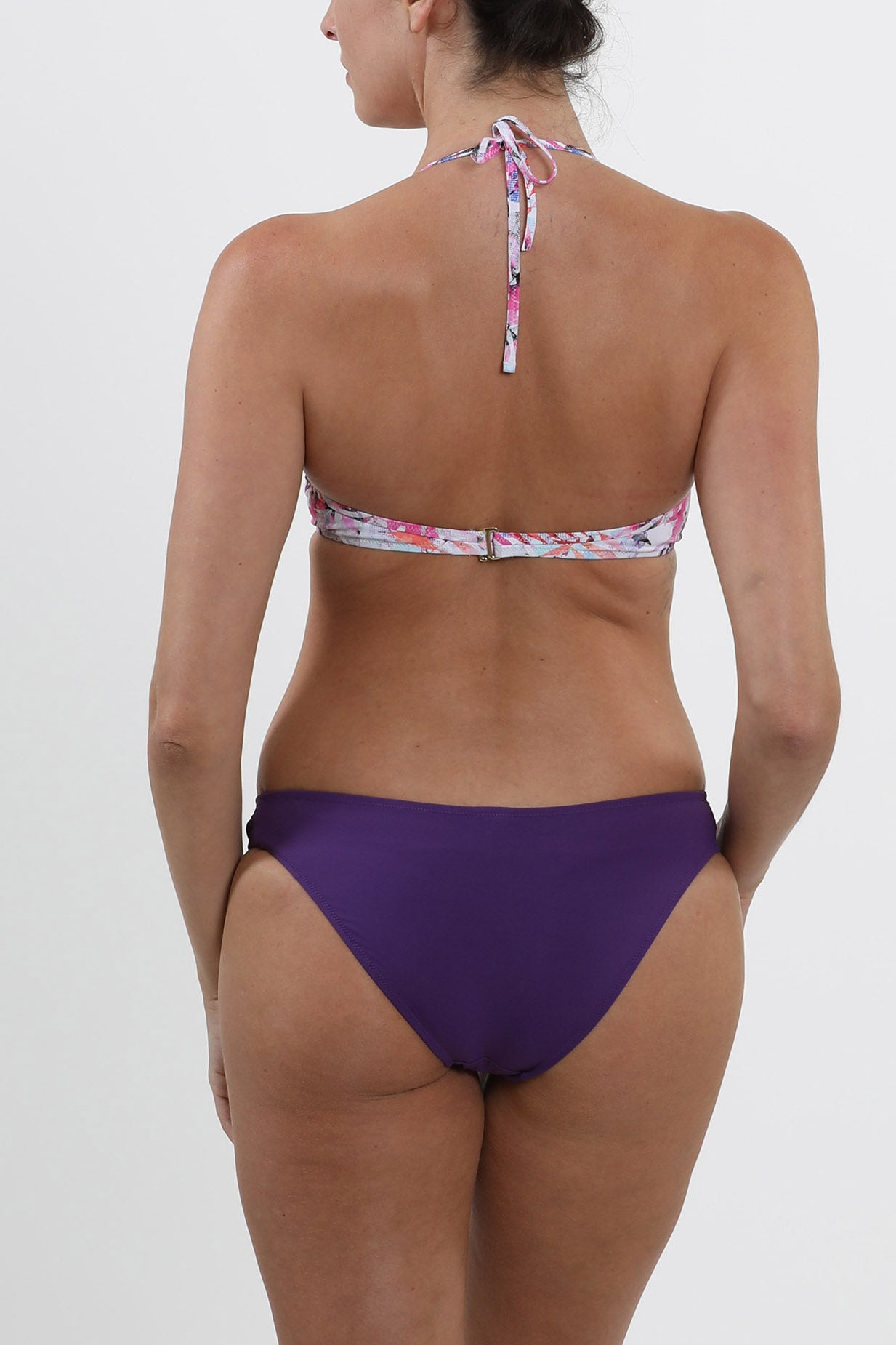 Cannes - Bottom with side ruching - purple