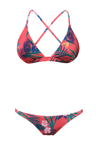 S21 Nissi Triangle Bikini Top - Palm Cruise & Cape Town bottom - Palm Cruise swimwear bikini set