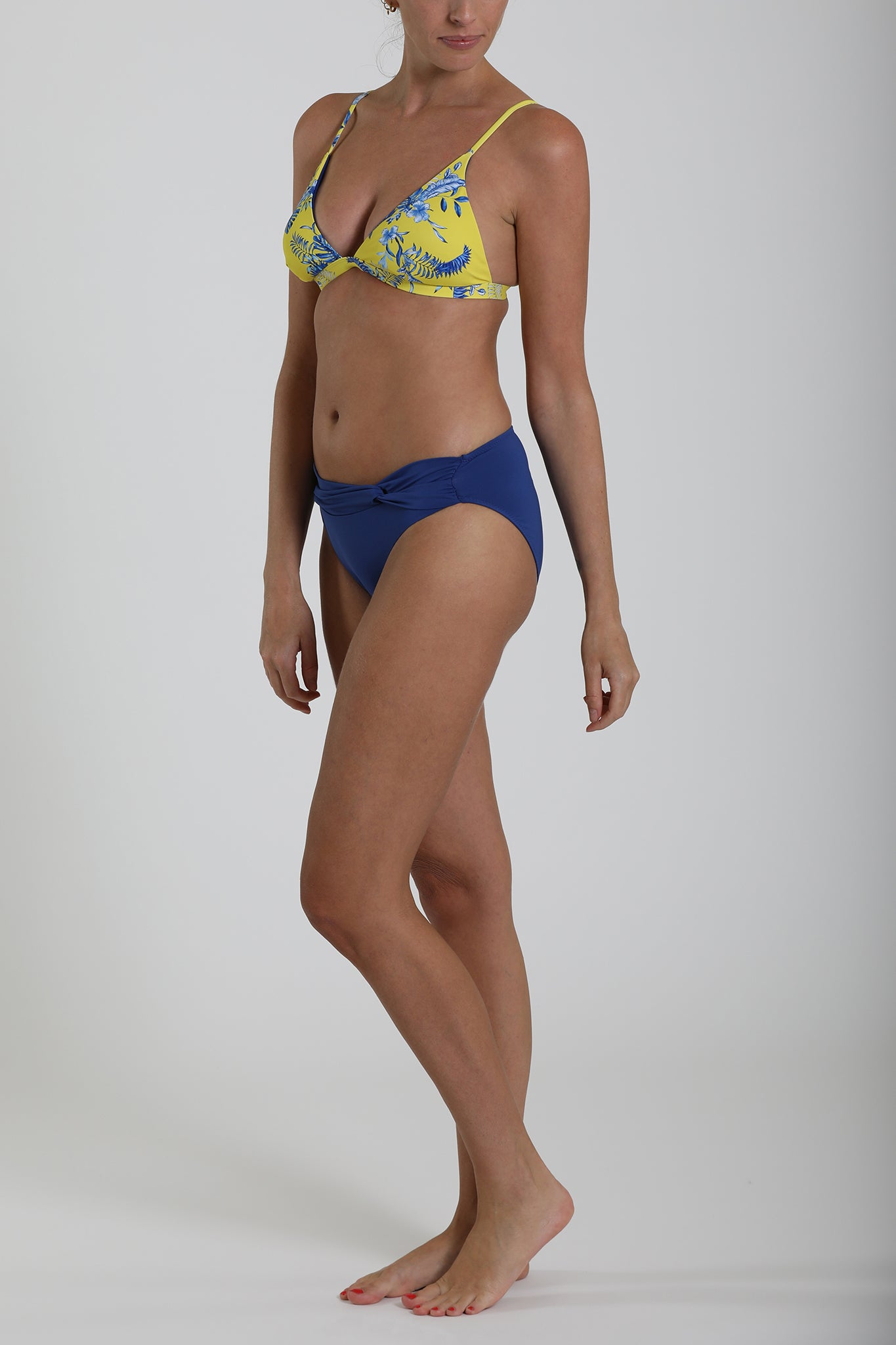 MALDIVES - Twist front detail swimwear bikini bottom - Sodalite Blue