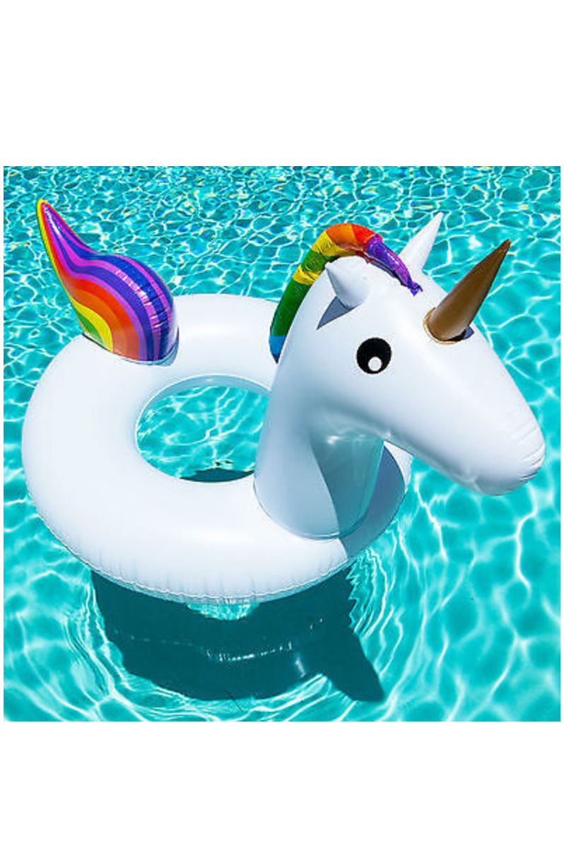 Rainbow Inflatable Unicorn ring
