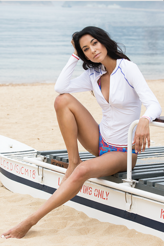 Gold Coast - Rash guard - Pure White