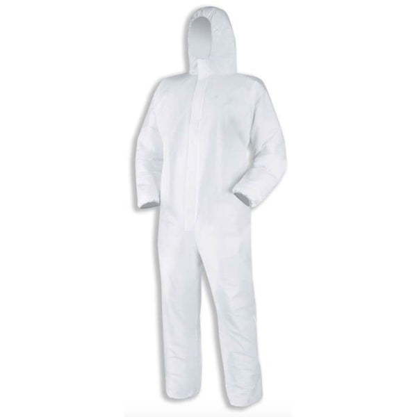 Microporous Standard Hooded Coverall PPE Suit - CE Certified (Pack of 10)