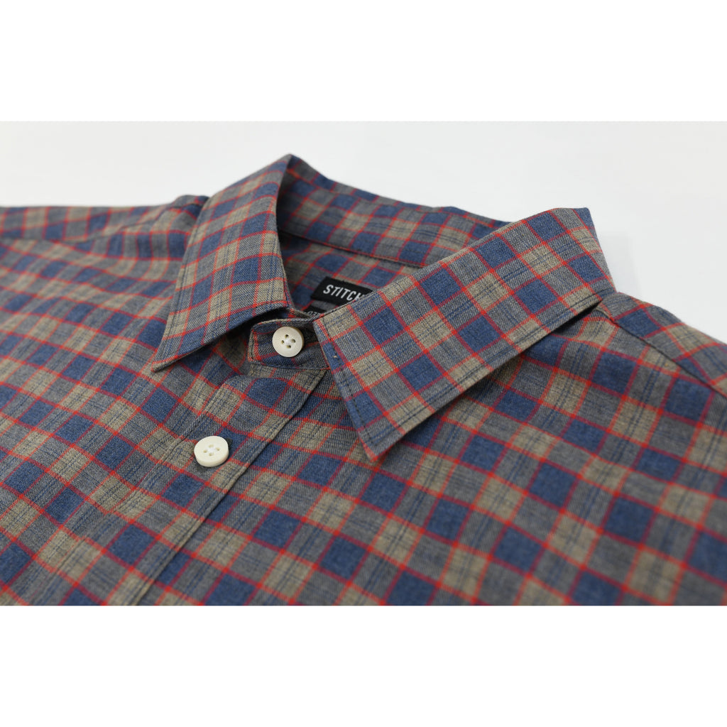Long Sleeve Plaid Shirt - Stitch Note