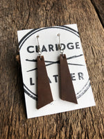 Classic Earrings [Brown Horween Leather]