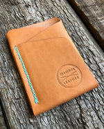 Origin Wallet [Horween Natural Essex + Seafoam]