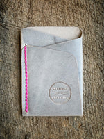 Origin Wallet [Horween Natural Wrangler + Hot Pink]