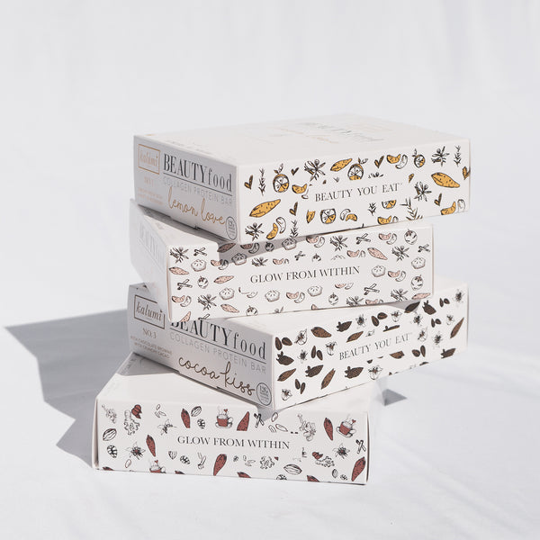 "Kalumi Marine Collagen Bar ""The Classics + Chai"" Collection (4 boxes)"