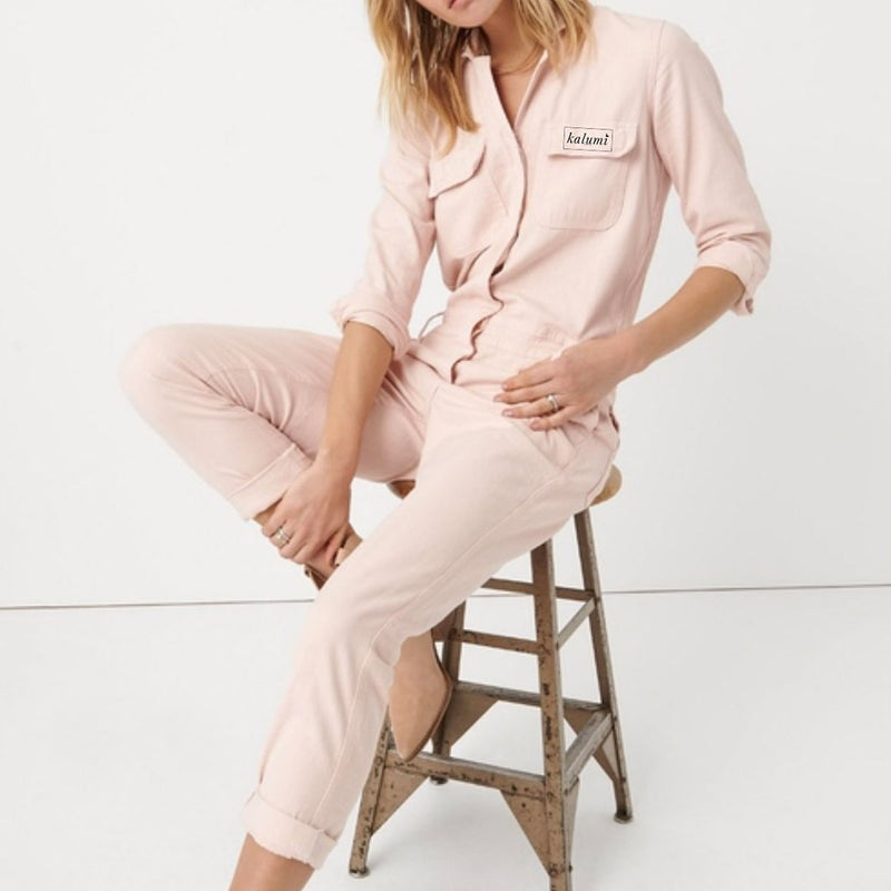 Kalumi Embroidered Pink Jumpsuit (Limited Edition)
