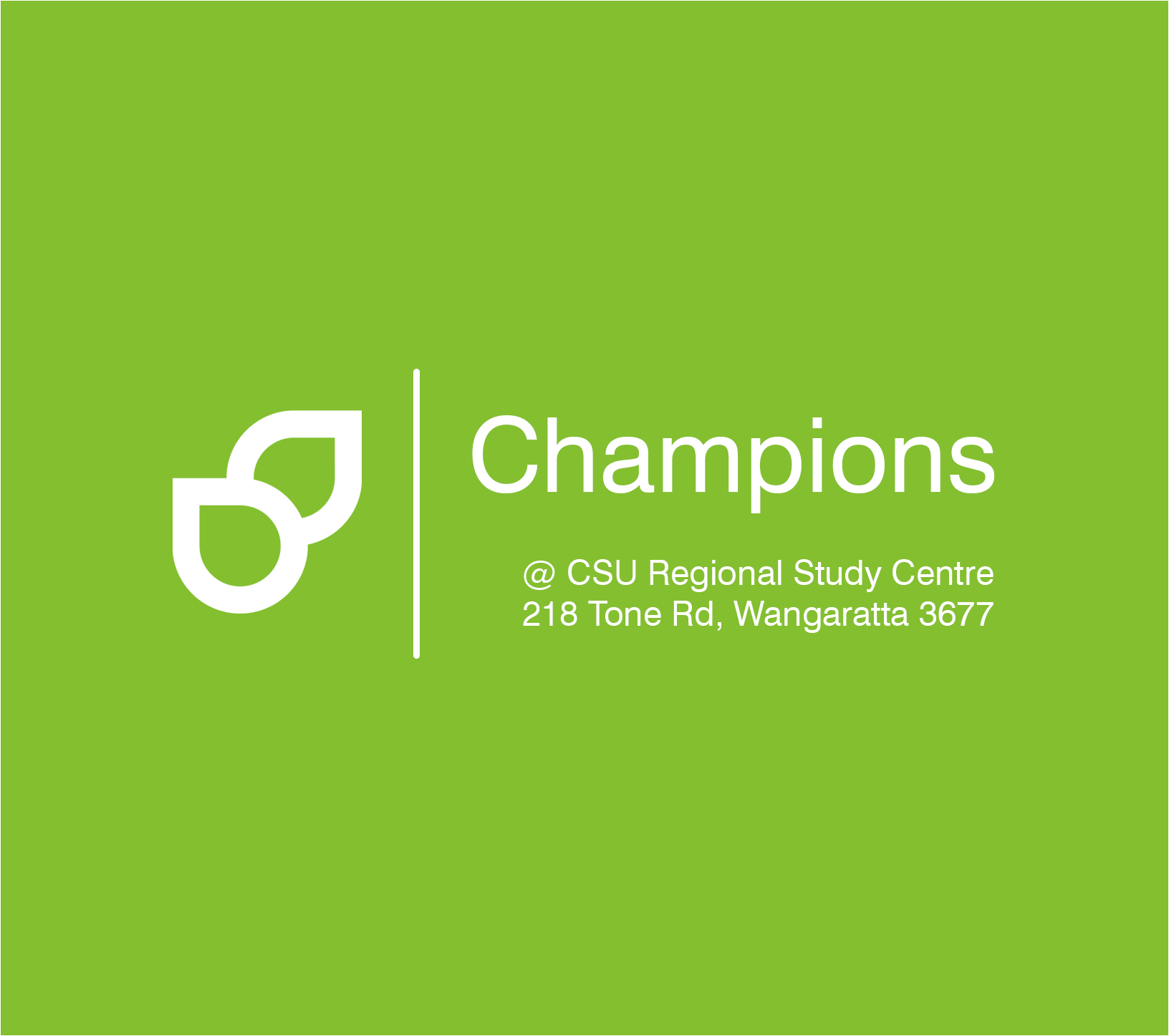 Regional Champions Program: Wangaratta - Starting April 2019
