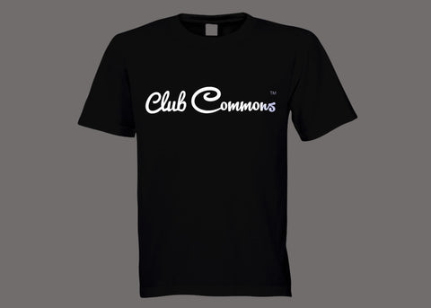 Club Commons Black Tee
