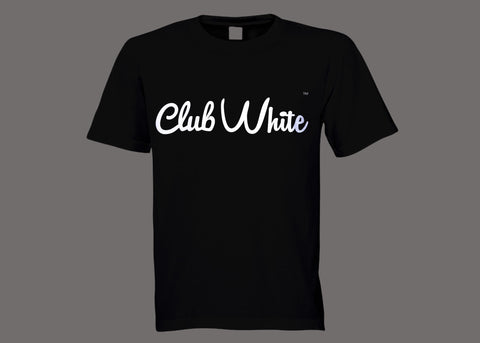 Club White Black Tee