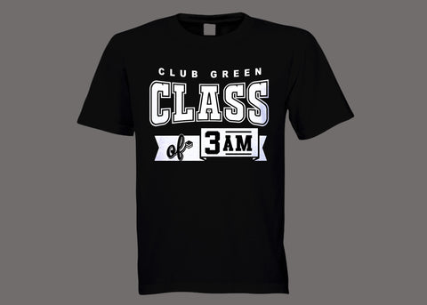 Club Green Class of 3AM Black Tee