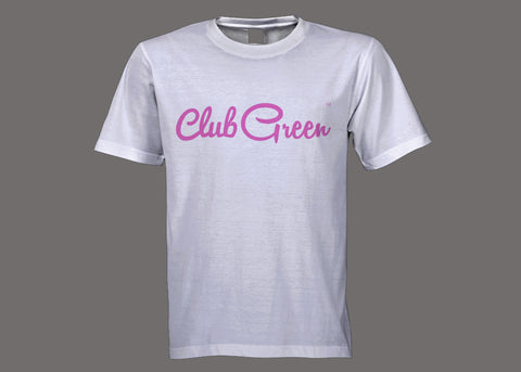 Club Green White/Pink Tee