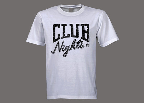 Club Stacks Club Nights White Tee